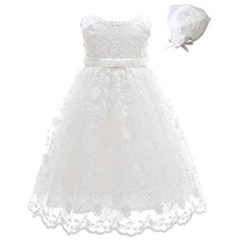 Vestido De Bautizos Para Niña Con Gorro